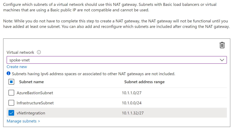 NAT Gateway - Subnet