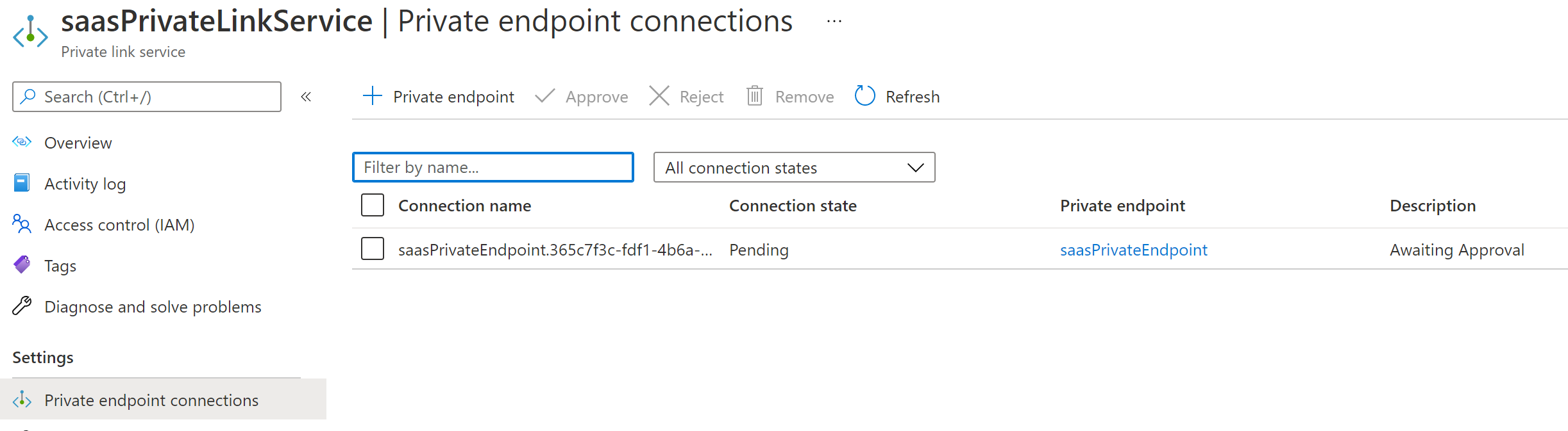 Connection request